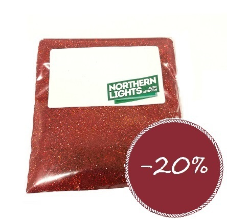 Northern Lights Metalflake Lazer-red